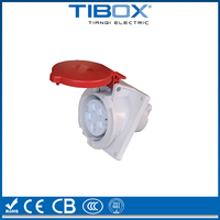 IP44 waterproof plastic industrial connector plug and socket