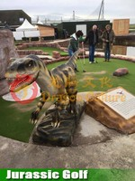 Outdoor Golf Animatronic Dinosaurs for Attractive