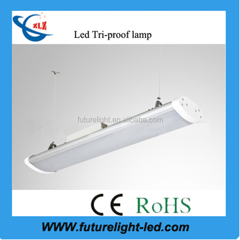 2017 hot selling office lighting of 1.2m 80w ip65 tri-proof led linear high bay light
