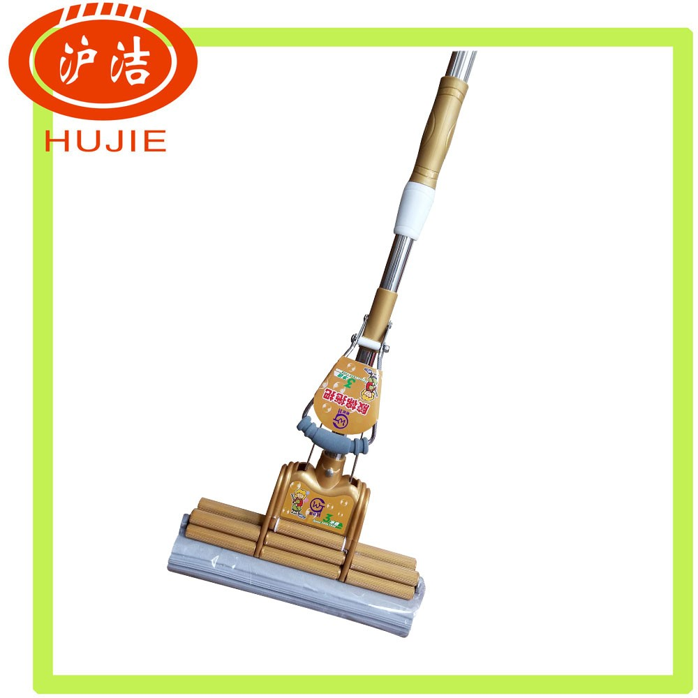 factory selling cleaning product water squeeze Telescopic PVA sponge mop