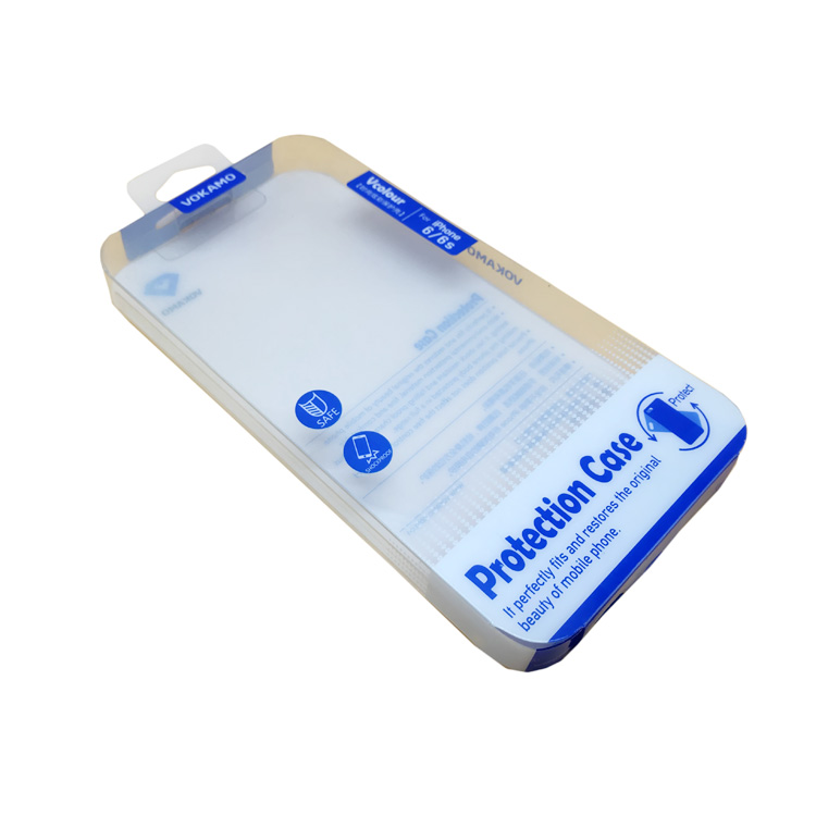 Custom size clear PVC folding packaging box phone case plastic box