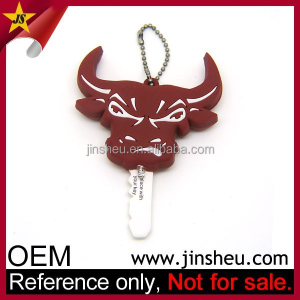Custom Cattle Designed Promotional PVC Key Cover with LED Light