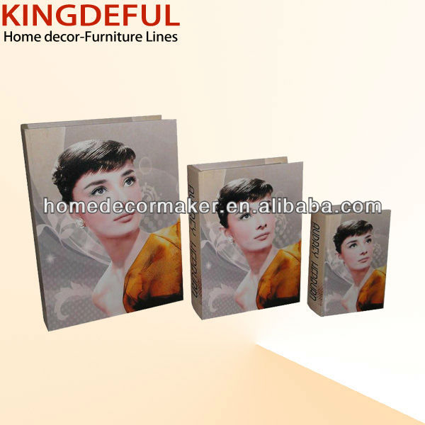 Audrey Hepburn cover fake book shape box wholesale