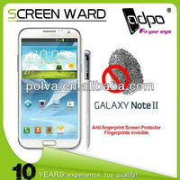 Anti-fngerprint Screen Protector Film For Samsung Galaxy note 2 N7100