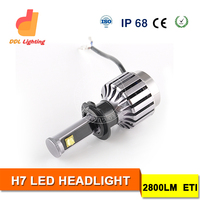 High quality car headlight led one year warranty 12 volt auto led headlight bulb h7