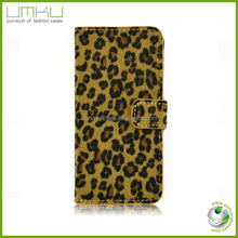 Leopard Print hot selling wallet case for iphone 5,phone accessories for iphone 5 5s