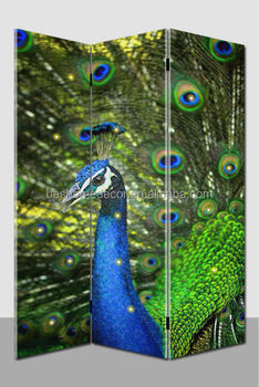 Peacock hanging room dividers with led lights ,french room dividers
