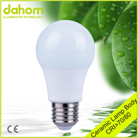 100-300V Lamp Nano-ceramic Energy Saving e27 Led Light A60 Led Bulb 7w