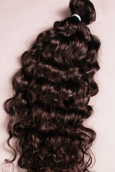 "VIRGIN TEMPLE CURLS HAIR 26-28"" Black/Brown Color Indian Virgin Hair, Indian Virgin Remy Hair, Curly Hair"