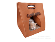 China Suppliers Portable Felt Cat Carrier Cat Cave Pets House