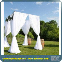 wholesale pipe and drape/chiffon fabric for drapery/wedding chuppah with flower design/factory price mandap sale