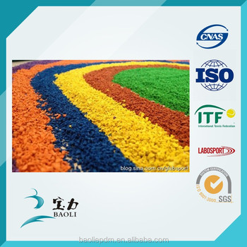 China manufacturer of EPDM granules for rubber running track