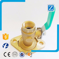"3/4"" FNPT/SWT rotating flanged brass ball valve with plastic check valve"