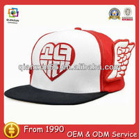 Wholesale factory funny snapback with wing red snpaback cheap flat bill hats