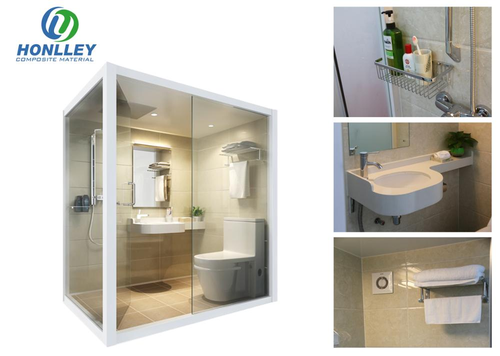 Honlley indoor prefabricated aluminum shower box, all in one shower box