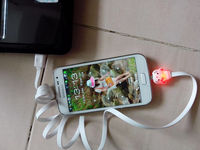promotional gift cartoon 80cm long usb data cable for android IOS mobile smart phone Iphone