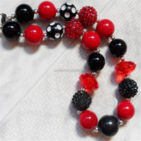 wholesale little baby Apparel fashion matching necklace handmade plastic bead christmas necklace for children