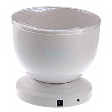 Ocean Wave Projector,Romantic Multicolour LED Relaxing Ocean Wave Night Light waterproof Projector Pot built-in speaker