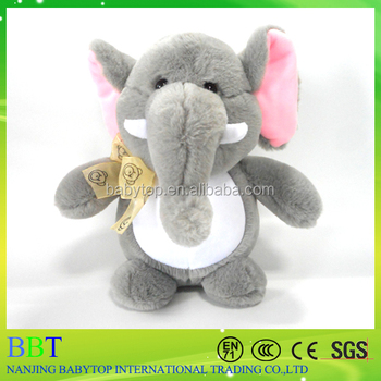 Free sample Cute Plush Toy Soft Elephant With Big Ears