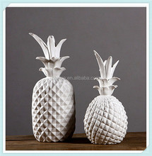 ceramic white pineapple simple style pineapple for home decor