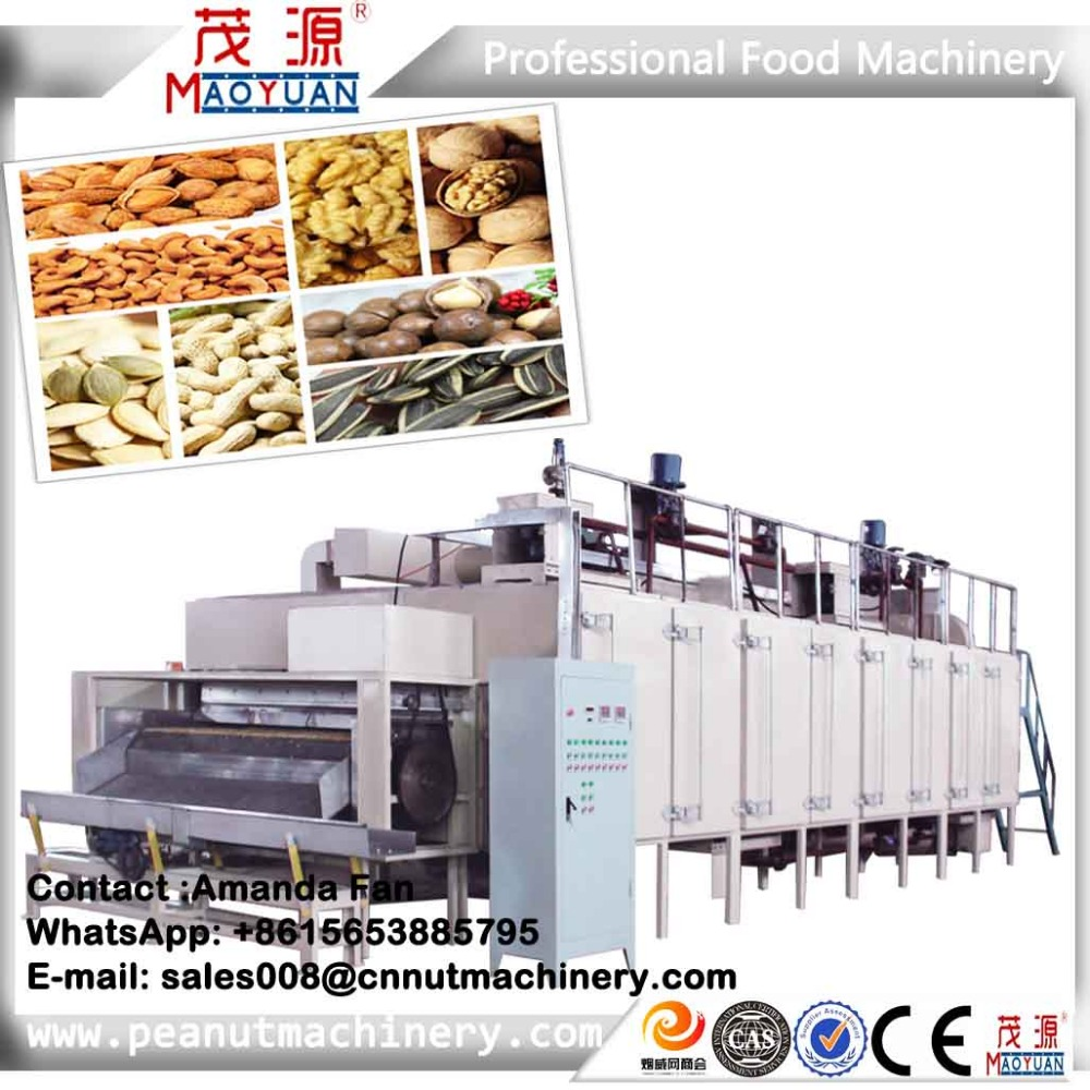Hot Sale Sunflower Seed / Pumpkin seed Roaster / Continuous Nut Roasting Machine
