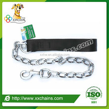 Nylon handle pet dog chain leashes, power chain leads