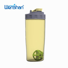 2018 new style plastic 600ml bottle shaker cups for gym