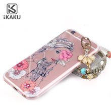 Ladies style clear diamond sublimation transparent case shell for iphone 5 5s 6