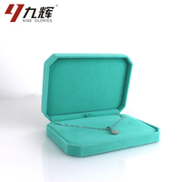 Top quality necklace bracelet ring velvet jewelry set wholesale fashion jewellery packaging ring boxes