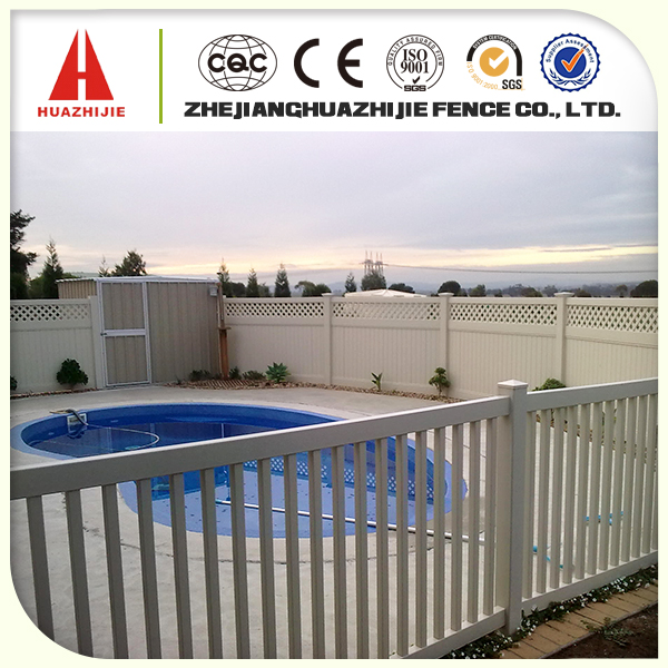 cheap pvc plastic pool fence
