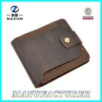 stylish vintage genuine leather men wallet for commercial