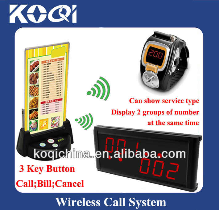 Table pager transmitter restaurant watch call K-200C+236+G3+KSU