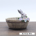 ROOGO antique home animal decorative resin herb garden pots rustic flower pots