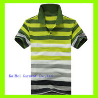 Custom Design Strip Sublimation Polo Shirt Color Combination Polo Shirt For Men