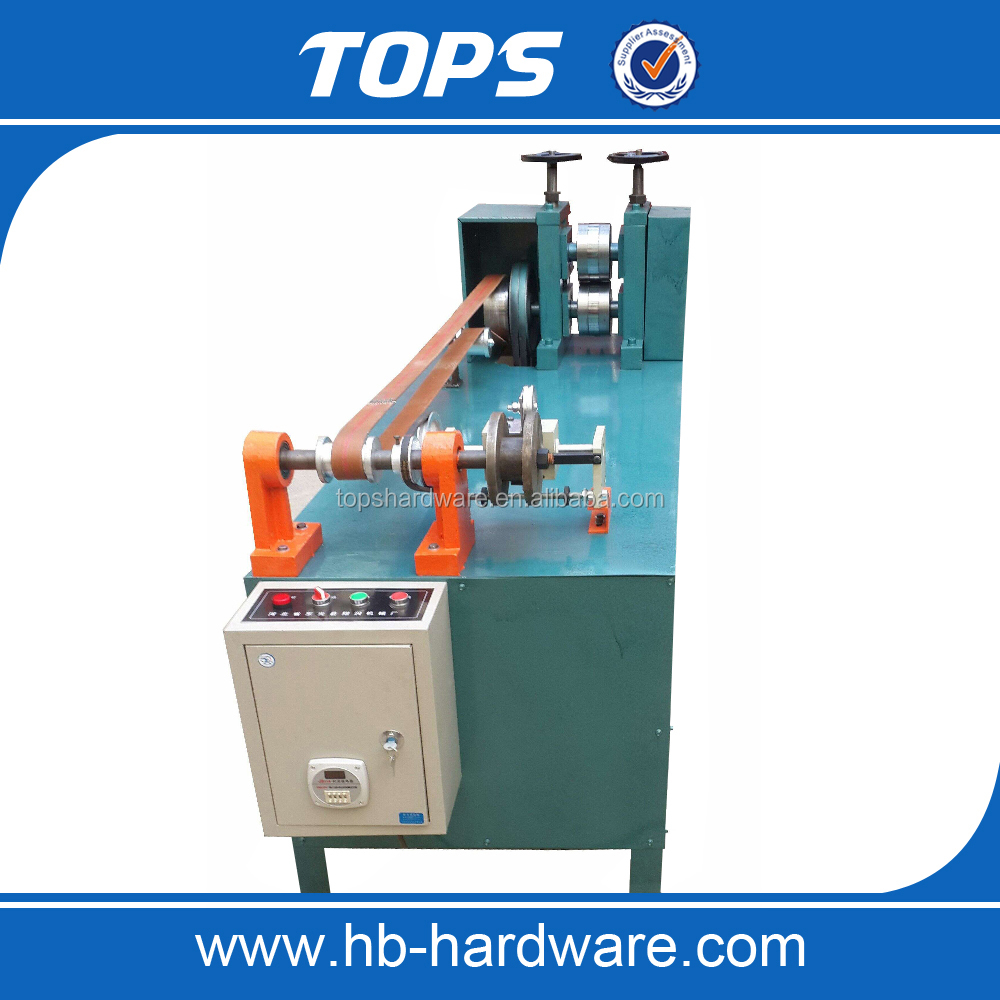 Flat stitching wire making machine