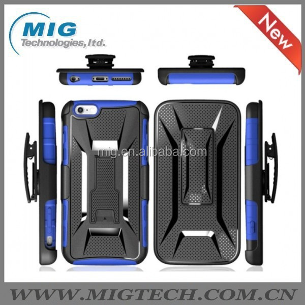 Cell phone case New robot style 3 in 1 PC hard case with belt clip for iphone 6 case China manufacture