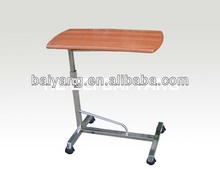 B-55 stainless steel movable hospital dining table