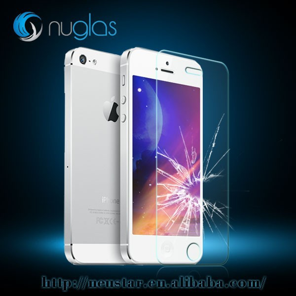 0.3mm cell phone protect film, tempered glass screen protector for iphone 5 5s 5c