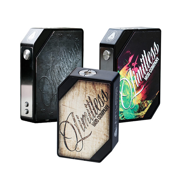New Color Electronic Cigarette Box Mods Express Limitless LMC 200W Box Mod With Interchangeable Magnetic Plates