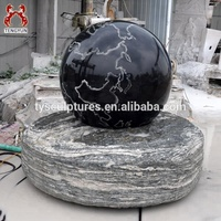 Hot sale rotating black granite ball rolling floating sphere water fountain