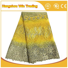 Alibaba express african textiles tulle fabric laces nigerian african style with rhinestone 2016