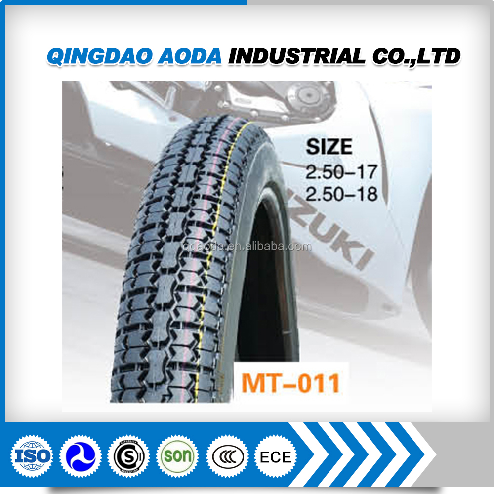 Motorcycle tyre and tube 2.50-17
