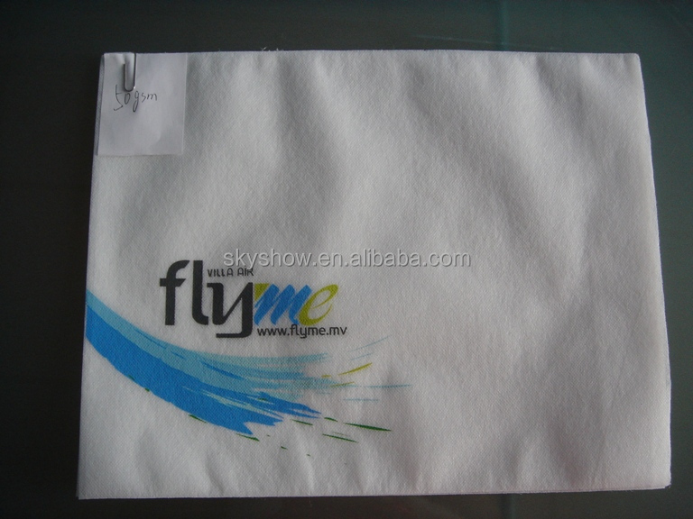 Disposable Airline Nonwoven Pillow Cover/ Headrest Cover For Promotion