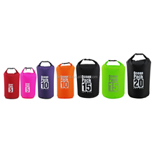 Hot selling 5L 10L 20L waterproof nylon dry bag with your custom logo for swimming drifting