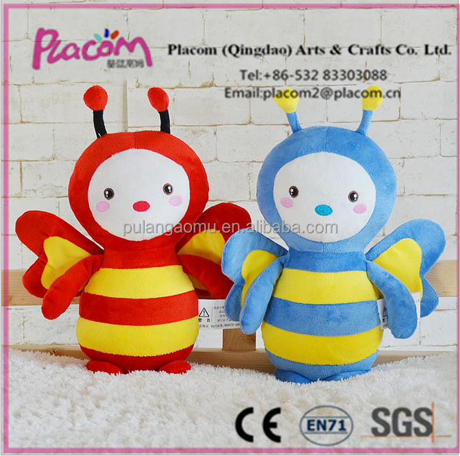 2016 Hot sale New design Favorite Cute Plush Kid toys and promotioan gifts Wholesale Plush toy honeybee
