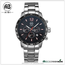 New arrival special design stainless steel watches customized chronograph quartz wristwatches