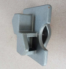 Lost wax cast container lock part with sand blasted surface