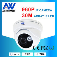 "130W Pixels Camera Speed Dome DC12V POE Within Cmos Image Sensor 1/3"" 960P High Definition With Audio"