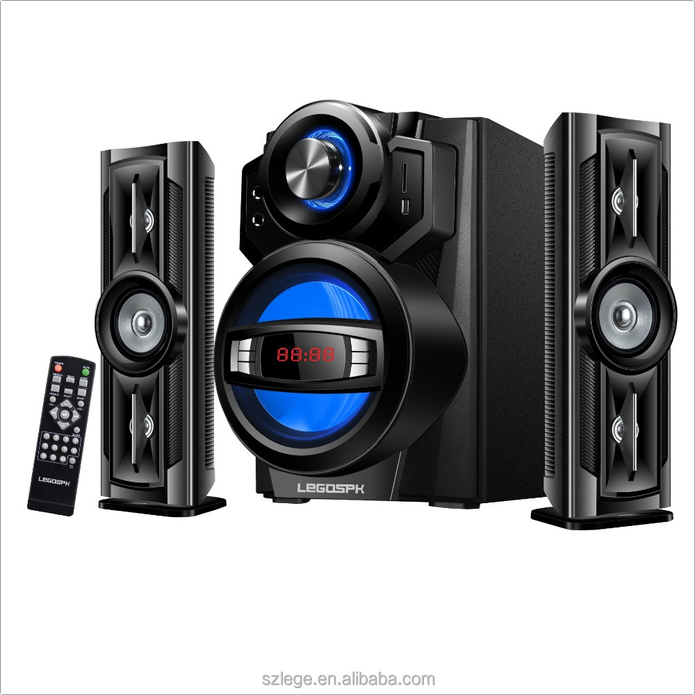 2.1ch multimedia home theatre speaker system with 6.5 inch vibration subwoofer