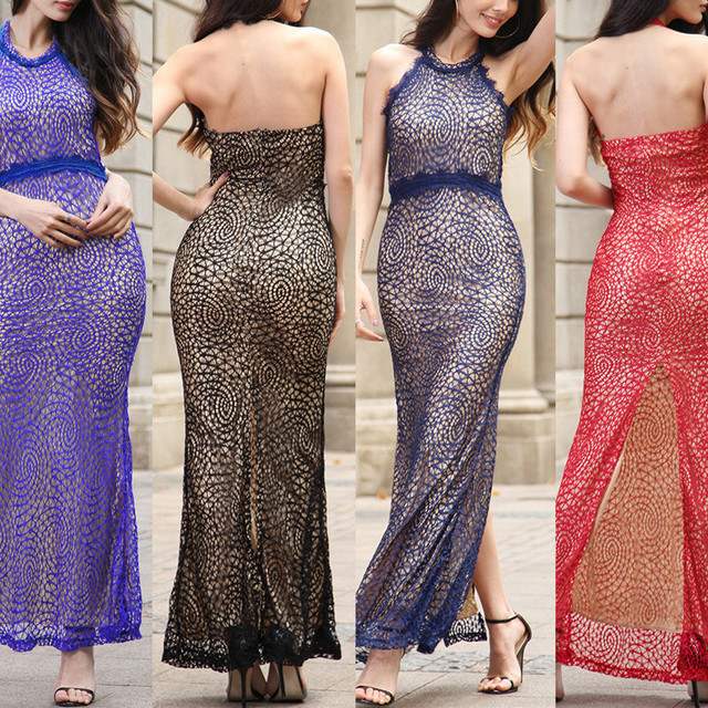 B20928A Summer new fashion lace sexy ladies dress fashion long dress